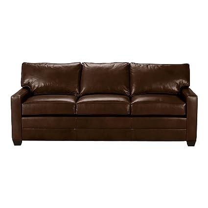 Sensational Amazon Com Ethan Allen Bennett Track Arm Leather Sofa 78 Inzonedesignstudio Interior Chair Design Inzonedesignstudiocom