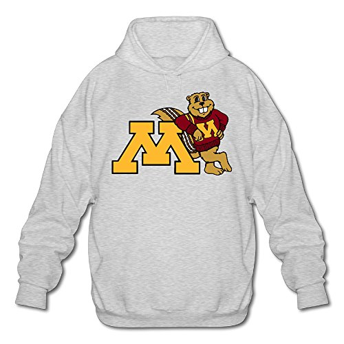 XJBD Men's University Of Minnesota Fashion Hoodies Ash Size - Arthur Amazon Glasses
