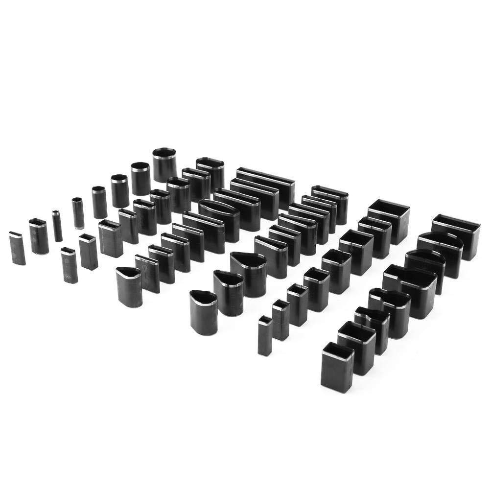 Wosume Set di Strumenti per taglierina per Fori in Pelle a Forma Multipla H-andmade Fai-da-Te in Pelle per perforatore 52 Pezzi