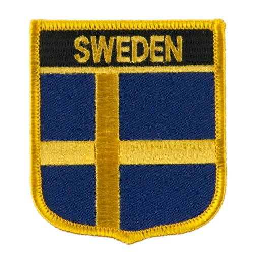Europe Flag Embroidered Patch Shield - Sweden OSFM