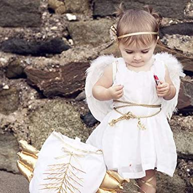Sunboom Angel Wings for Kids Angel Costumes for Girls Boys Child Feather Wings Halloween Christmas Angel Costume Wings