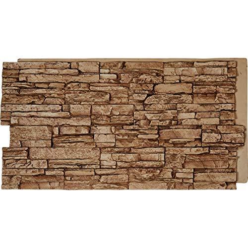 Faux Stone Panels - Ekena Millwork PNU24X48CNSE Stonewall Stone Faux Siding Panel, Sedona