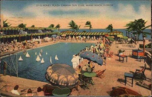 Roney Plaza Cabana Sun Club Miami Beach, Florida Original Vintage - Plaza Club County