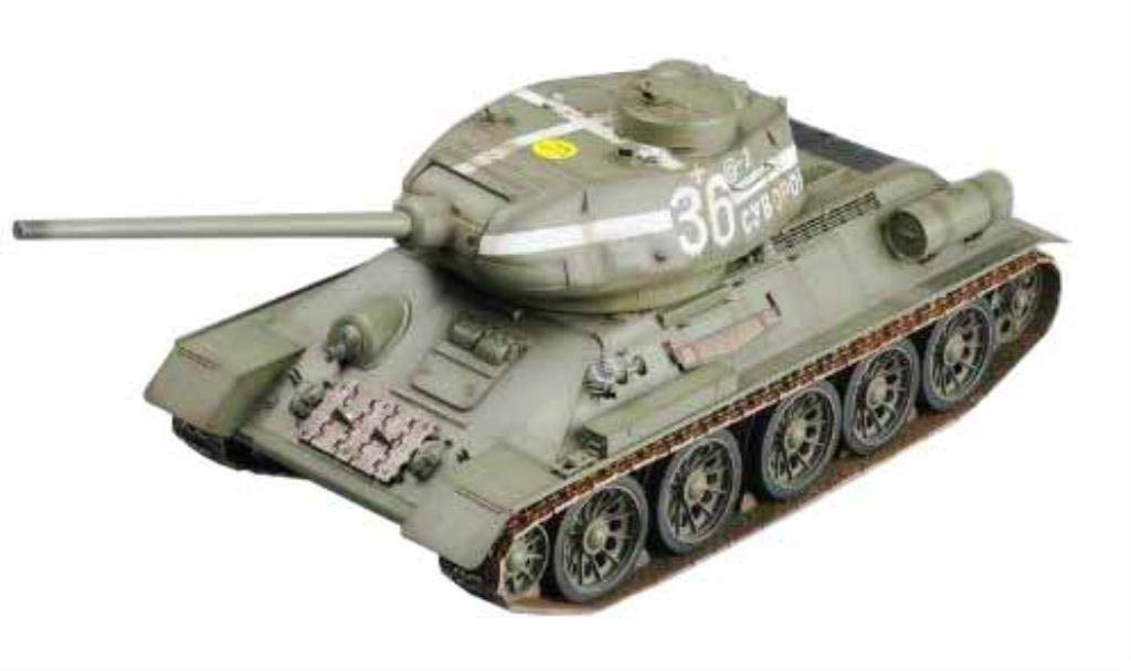 2.4Ghz 1/16 Scale Radio Remote Control Russian T-34/85 RC Infrared Battle Tank With Infrared Battle System and Sound R/C Tank by WSN/Tumpeter Trumpeter