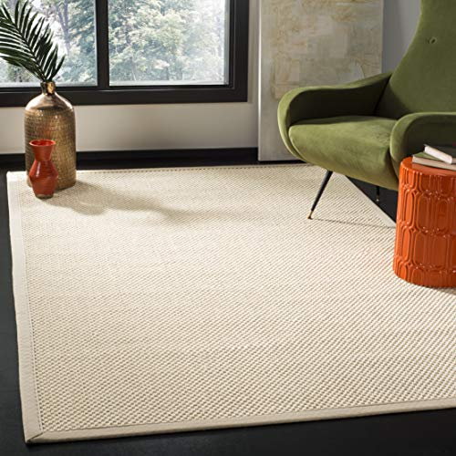 Safavieh NF150A-8 Natural Fiber Collection Abstract Area Rug, 8' x 10', Ivory/Light Beige ()