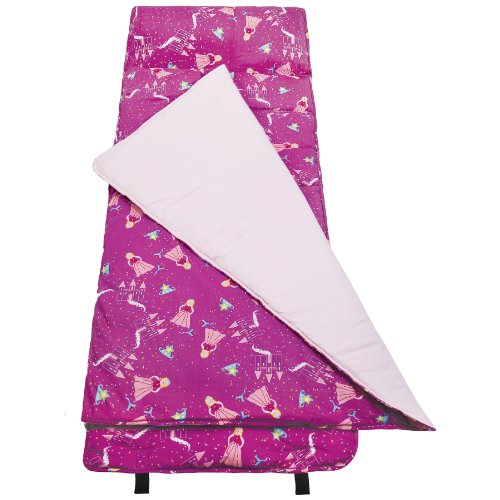 Wildkin Original Nap Mat, Features Built-In Blanket and Pillow, Perfect for Daycare and Preschool or Napping On-the-Go – Princess