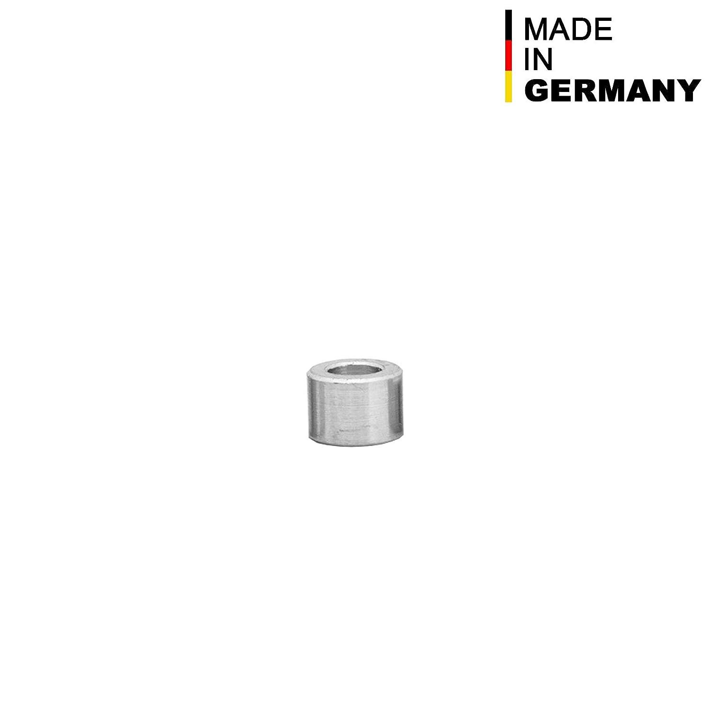 di/ámetro exterior de 10 mm Casquillos distanciadores de aluminio casquillos espaciadores para tuber/ías FASTON M6, di/ámetro interior de 6,5 mm, 4 unidades casquillos distanciadores