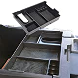 JDMCAR for Tundra 2014-2018 Center Console Organizer Insert ABS Black Materials Tray, Armrest Box Secondary Storage