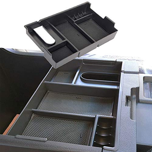 Center Organizer - JDMCAR for Tundra 2014-2018 Center Console Organizer Insert ABS Black Materials Tray, Armrest Box Secondary Storage
