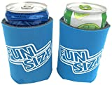 8 oz. Mini Beer & Soda Slim Can Sleeves - Set of 2 ''Fun Size'' Coolies (Neon Blue)