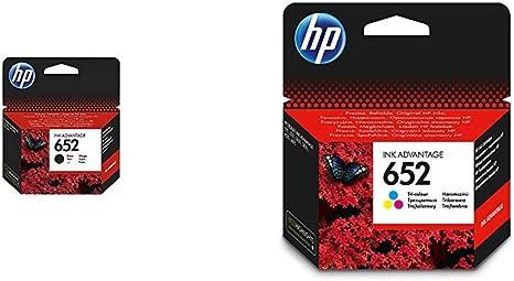 HP 652 Cartucho de tinta para impresoras (Negro, HP, -40-60 °C, HP ...