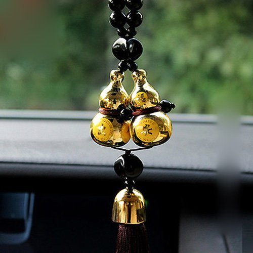 Gourd Lucky Charm Pendant Auto Car Rear View Mirror Hanging Decoration Ornaments Car Interior Decor Car Accessories