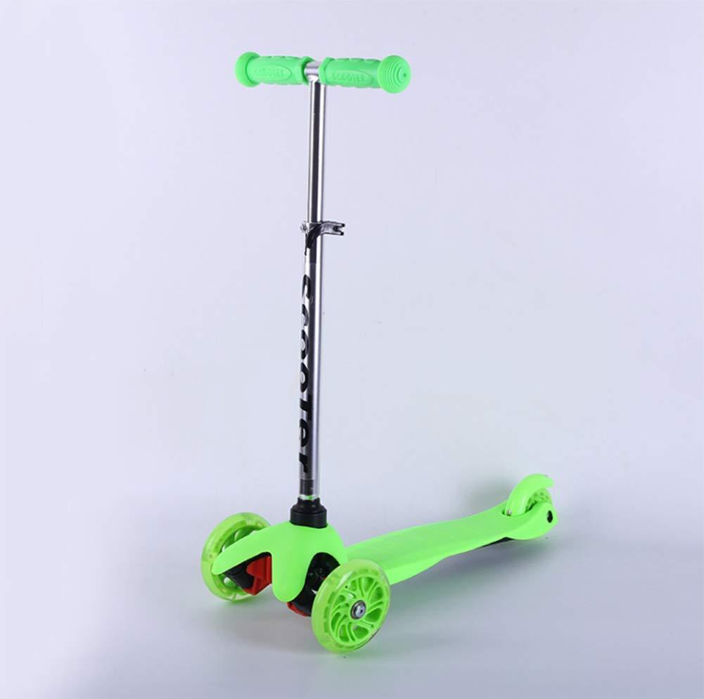verde OOFAY Scooter per Bambini Stabile e Sicuro Pedale Antiscivolo Scooter a Tre Ruote