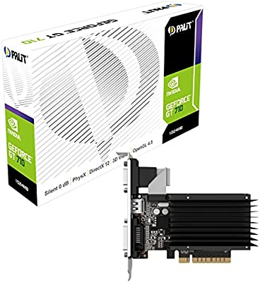 Palit NEAT7100HD06-2080H GeForce GT 710 1GB GDDR3 - Tarjeta gráfica (NVIDIA, GeForce GT 710, 2560 x 1600 Pixeles, 954 MHz, 2048 x 1536 Pixeles, 2560 x ...