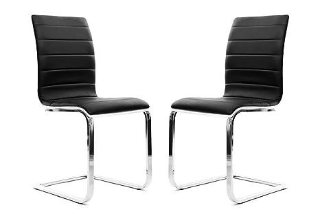 Sedie Bianche Design : Miliboo gruppo di 2 sedie design nere e bianche sadie: amazon.it