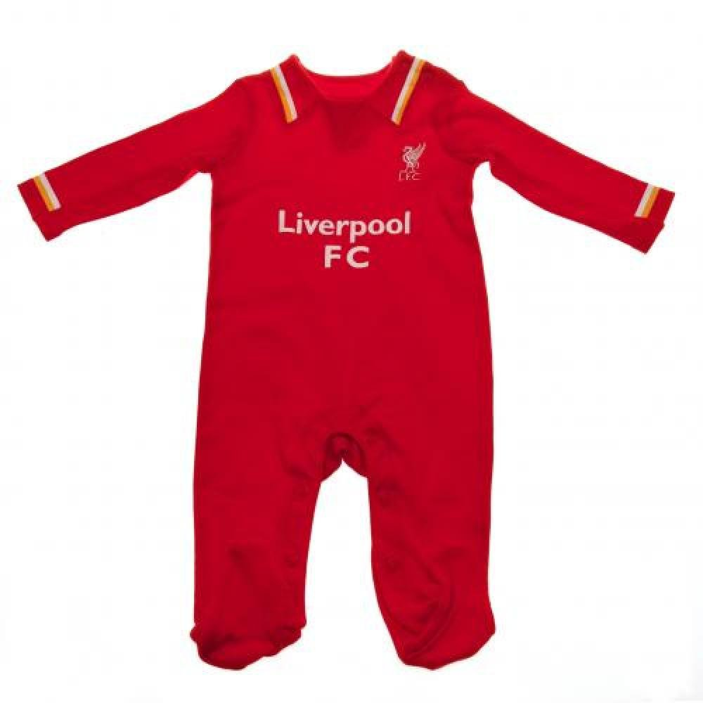 Baby Clothing - Official Liverpool FC Baby Sleepsuit (9 - 12 Months) - Novelty Baby Football Gift Ideas ONTRAD Limited