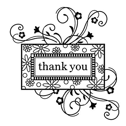 amazon com inkadinkado thank you frame clear stamp arts crafts