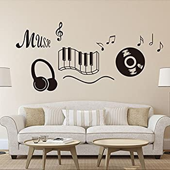 MUSIC NOTES VINYL WALL DECAL STICKERS LOT OF NOTES HOME DECOR - Wall decals and stickers