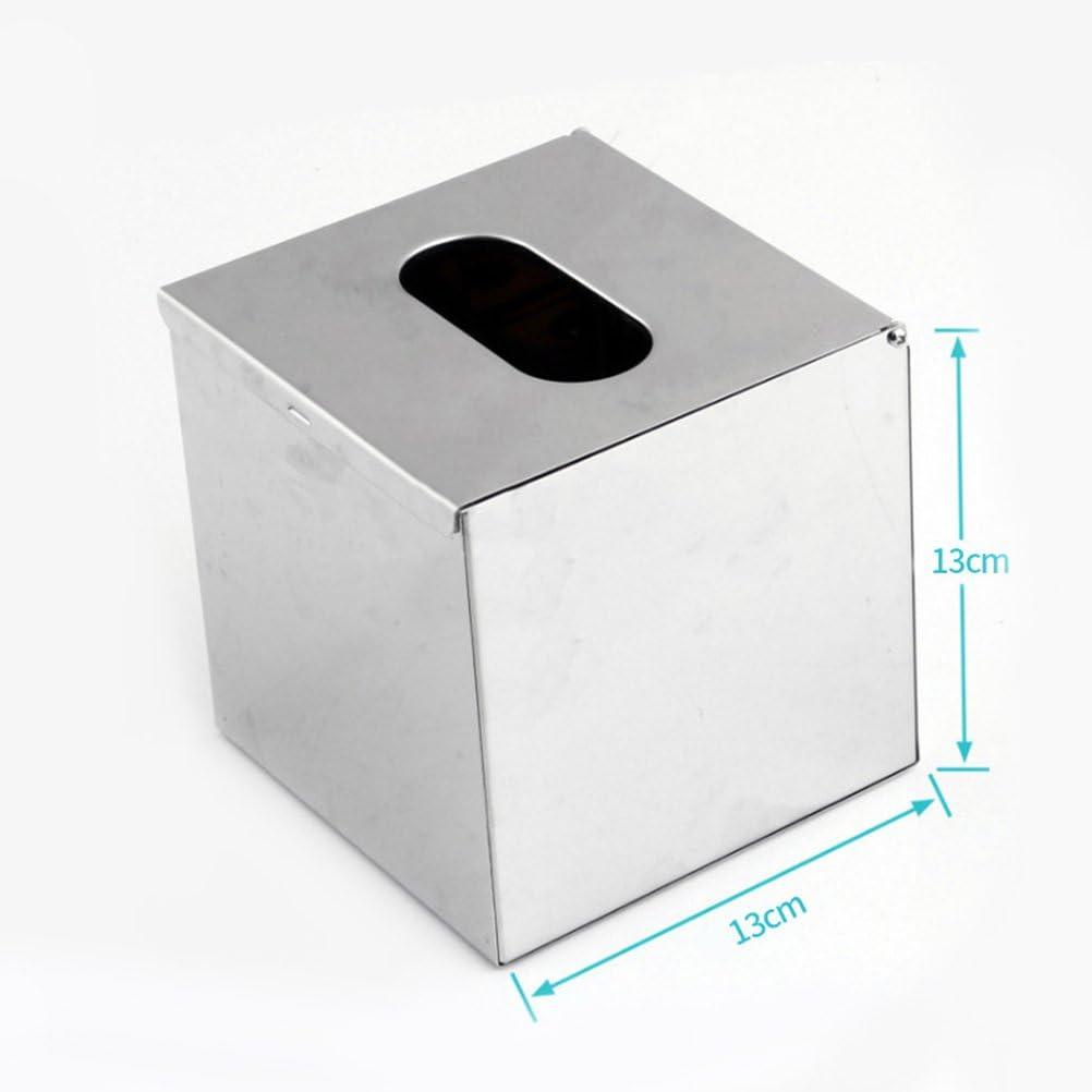 BESTOMZ Porta Papel de servilleta de Caja de Acero Inoxidable para Oficina en el hogar: Amazon.es: Hogar