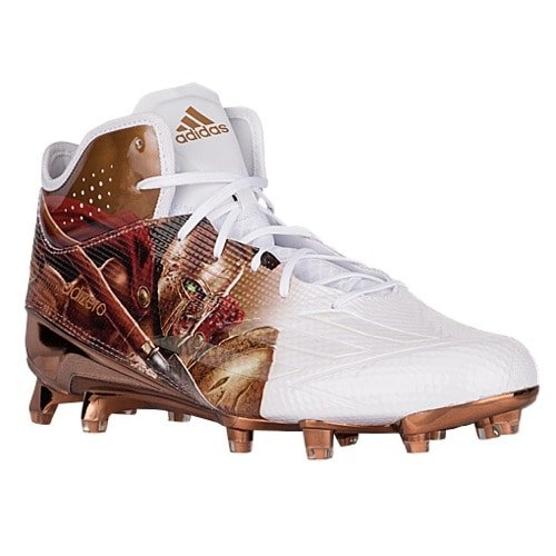 sneakers for cheap 38d6c a6a5f Galleon - Adidas Adizero 5Star 5.0 Mid Uncaged Mens Football Cleat 11  Spartan-White-Copper Metallic