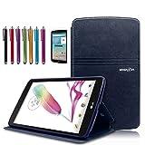 Mignova LG G Pad F 8.0 / G Pad II 8.0 Folio Case - Premium PU Leather Cover [Fit (4G LTE AT&T Model V495 / T-Mobile Model V496 / US Cellular Model UK495) & G Pad 2 8.0 V498] 8-Inch Tablet (Blue)