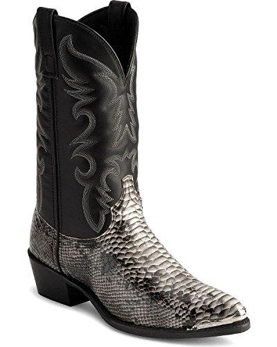Laredo Men's Snake Print Cowboy Boot Natural 13 EE US