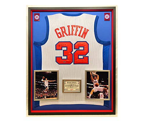 Los Angeles Clippers Glass - Premium Framed Blake Griffin Autographed/Signed Los Angeles Clippers Jersey - Upper Deck COA