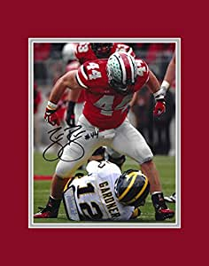 Zach Boren Autographed Ohio State Buckeyes 8x10 Photograph with Mat - Sacked Lunch - Certified Authentic - Autographed Photos