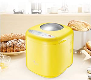 MDEOH Bread Machine, Automatic Bread Machine with Nut Dispenser, LCD Touch Screen Control, 10 Menus of 3 Colors, 1 Hour Heat Preservation 15 Hours Delay Time, Gluten Free Whole Wheat, Stainless Stee
