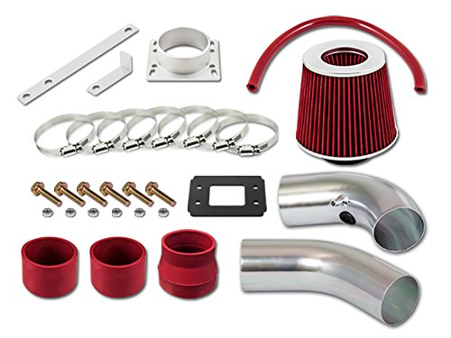 RL Concepts Red Short Ram Air Intake Kit + Filter 95-97 Ford Ranger All Model with 2.3L 4-Cyl