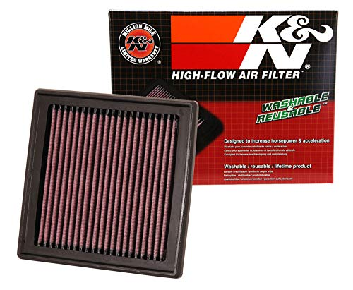 K&N engine air filter, washable and reusable:  2007-2019 Ford/Lincoln SUV and Compact V6/L4 (Explorer, Flex, Taurus, Edge, MKT, MKS) 33-2395