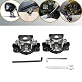 lightronic 2pcs Universal A Pillar Hood Led Work Light bar Mount Bracket Clamp Holder 304 Stainless Steel Offroad