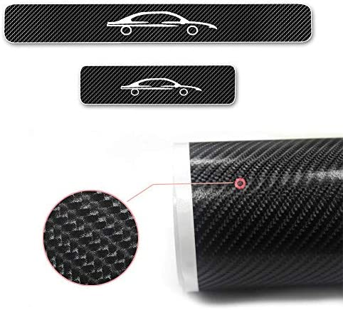 For Fiesta Focus B-max C-MAX mustang mondeo White Reflective Carbon Fiber Car Door Sill Scuff Guard Anti Scratch Panel Step Protector Stickers