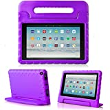 TIRIN All-New Fire HD 10 2019/2017 Tablet Case - Super Light Weight Shock Proof Handle Kid-Proof Cover Kids Case for All-New Fire HD 10.1 Inch Tablet (9th/7th Generation, 2019/2017 Release), Purple