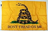 3x5ft Gadsden Flag / Don't Tread on Me Flag / Tea Party Flag – 100% Made in USA – Highest Quality Materials & Workmanship – A Gadsden Flag You'll Be Proud To Own …