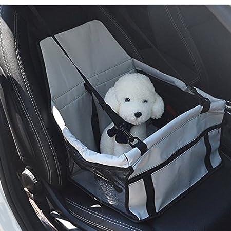 Seggiolino per auto per cani e gatti con cintura di sicurezza e tappetino Buwico