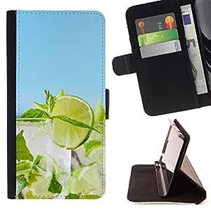 Momo Phone Case / Flip Funda de Cuero Case Cover - Cóctel de cal;;;;;;;; - Samsung Galaxy Note 4 IV
