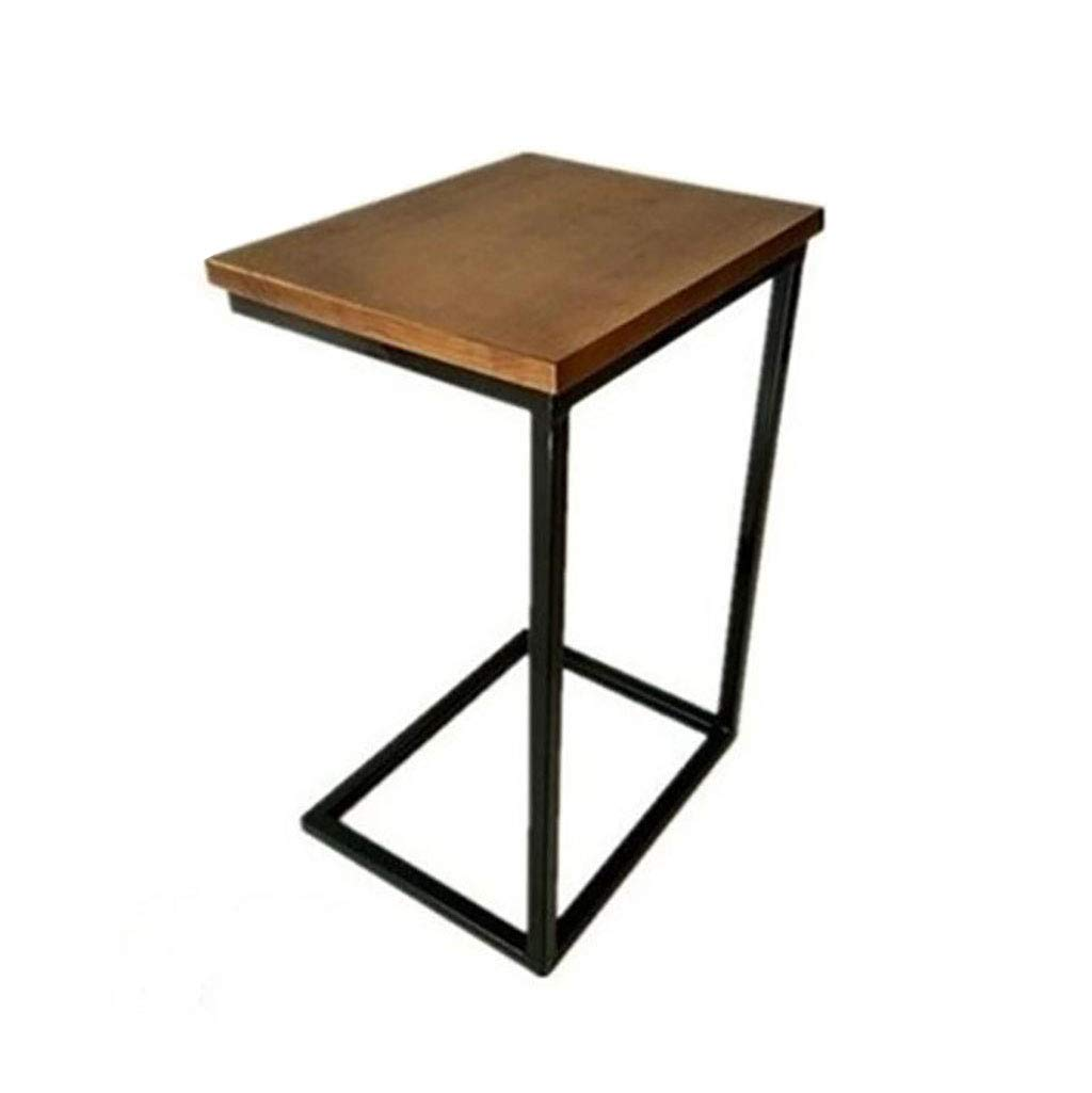 60CM TJTG End Tables Small Coffee Table Simple Modern Removable Bedside Table Solid Wood Side Corner Sofa Side Table Home Office Desk (Size   60CM)