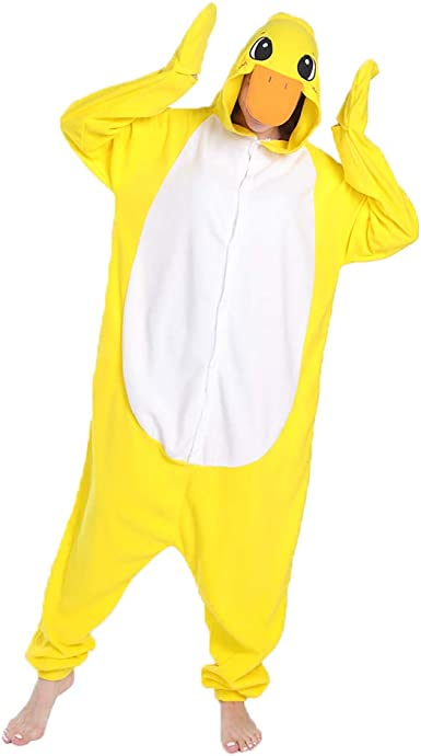 FORLADY Unisex Adulto Animal Pijama Pato Cosplay Disfraz Ropa de Dormir Halloween