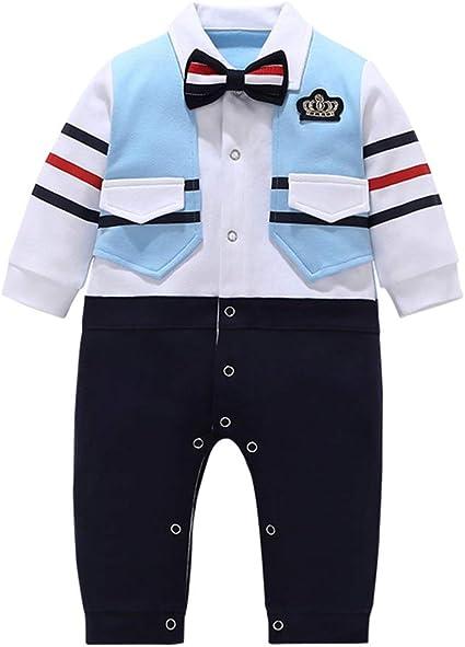 Boys Traje Niño Niños Vestido Verano Niños Vestido Camisa Pantalones de Manga Larga 3 meses-24 Meses: Amazon.es: Ropa y accesorios
