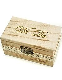 Rustic Wedding Ring Bearer Box, Wood Wedding Ring Box, Wedding Box for Rings , We Do Ring Box