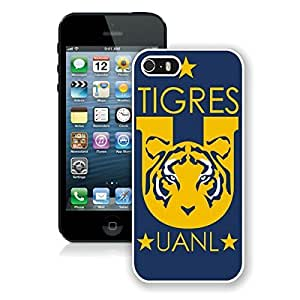 For iPhone 5S,Tigres UANL 1 White iPhone 5S Case Online