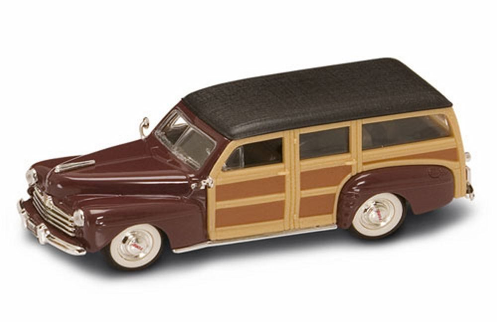 1948 Ford Woody Burgundy Yatming 94251 1 43 Scale Diecast Model Toy Car
