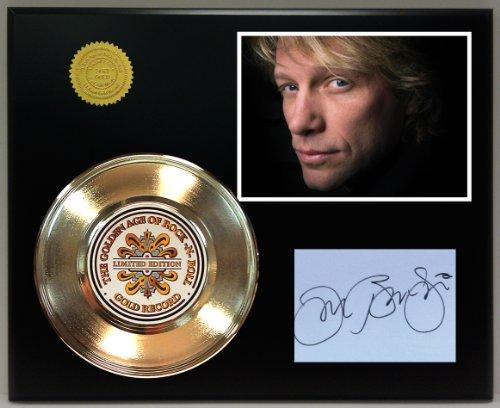 Jon Bon Jovi Gold Record Reproduction Signature Series LTD Edition Display ()
