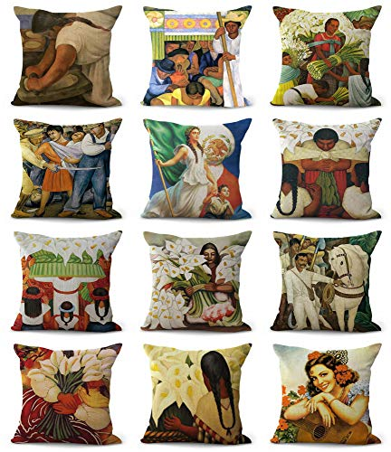 (Set of 10 Bulk Wholesale Diego Rivera Cushion Covers Throw Pillow Cover Bulk lot Wholesale lot Pillowcases Decorative for The Couch)