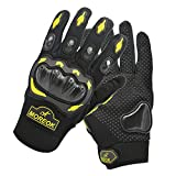 ViMall Military Hard Knuckle Combat Gloves/Tactical Airsoft Glove/Cycling Motorcycle Gloves Full Finger Powersport Army Gear Sport Shooting Paintball Motorbike Riding Driving Mittens (Yellow, M)