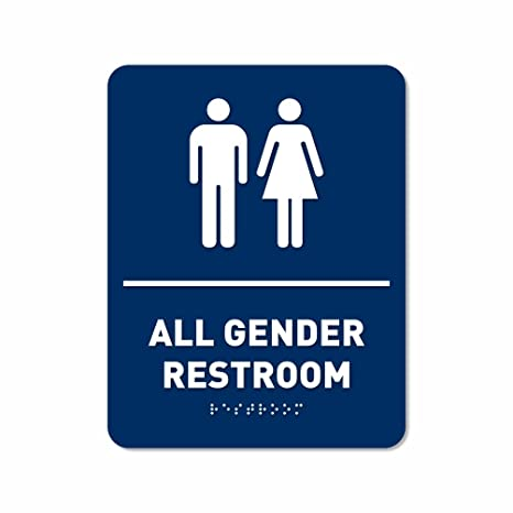 all gender restroom bathroom sign ada compliant after midnight g101h - All Gender Bathroom Sign