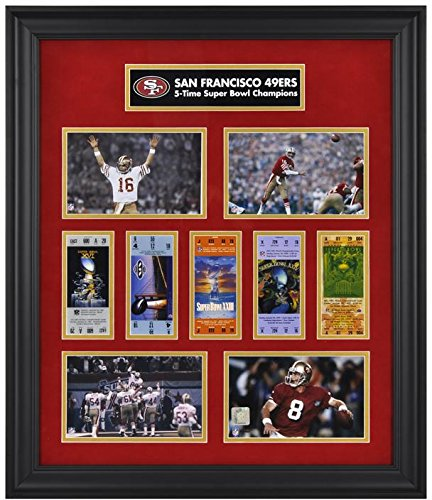 San Francisco 49ers Framed Super Bowl Replica Ticket & Photo Collage - Fanatics Authentic Certified - NFL Ticket Plaques and Collages (49ers Francisco San Bowl Super)