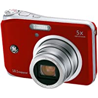 GE A1050-RD 10MP Digital Camera with 5X Optical Zoom and 2.5 Inch LCD with Auto Brightness - Red Noticeable Review Image
