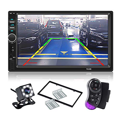 Backup Lcd (CarThree Double Din Touch Screen Car Stereo 7''LCD Car Radio Touchscreen Bluetooth with Rear View Camera Tape,MP5 Player, USB, SD Card, AUX Input,FM 2 Din Car Stereo for SUV Car)
